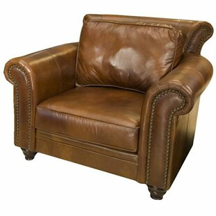 Elements Fine Home Furnishings Paladia Top Grain Leather Armchair