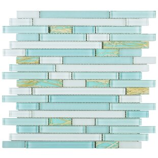Random Sized Glass Mosaic Tile in Blue