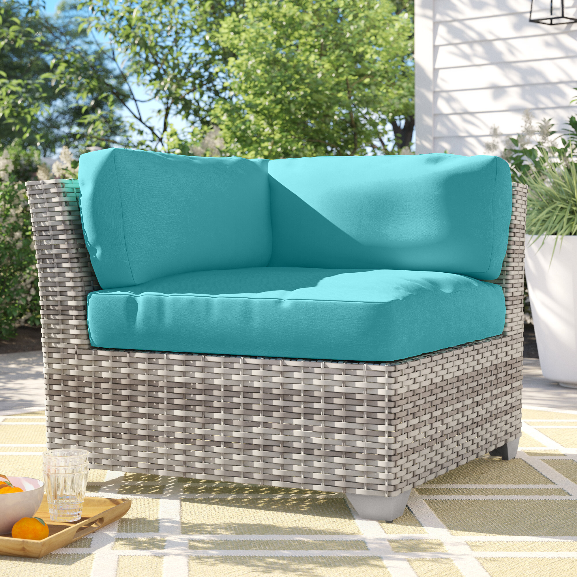 Outdoor Falmouth Corner Patio Chair