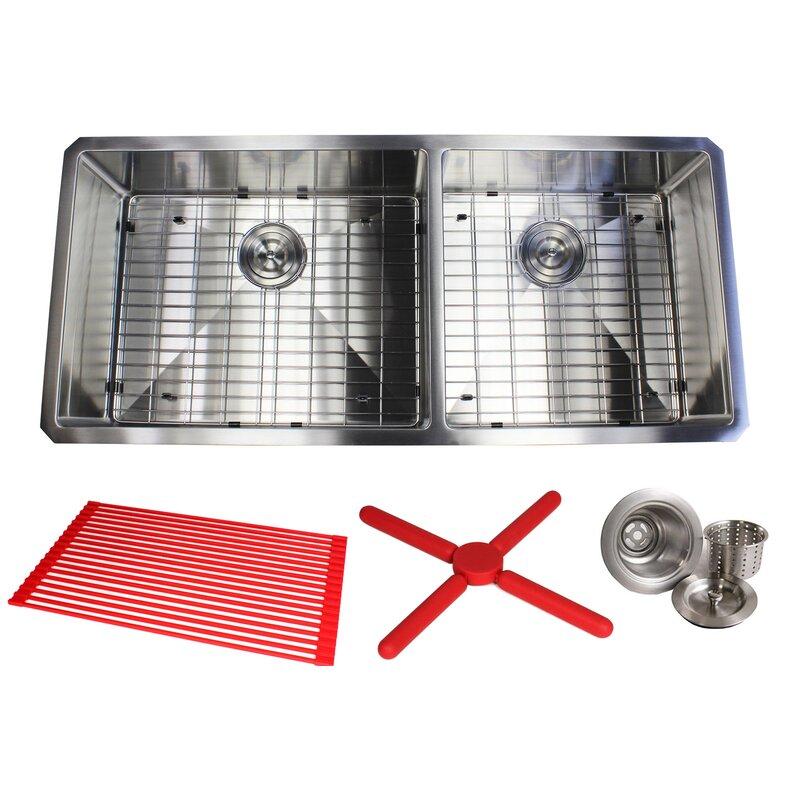42 kitchen sink vintage cast iron ariel premium stainless steel 42