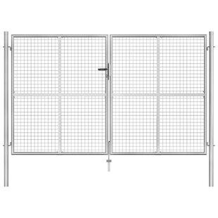 Abree Garden 10' X 7' (3.06m X 2m) Metal Gate By Sol 72 Outdoor