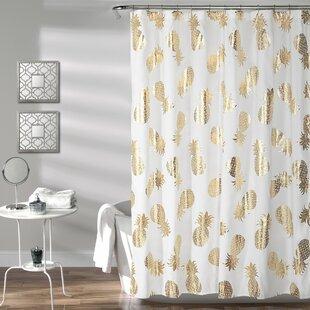 Top Reviews Heinen Pineapple Toss Shower Curtain ByMercer41