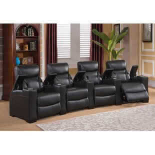 Home Theater 4 Row Recliner ByRed Barrel Studio