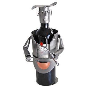 H & K SCULPTURES Barbeque 1 Bottle Tabletop Wine Rack