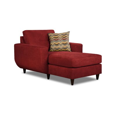Brayden Studio Gudino Chaise Lounge by Simmons Upholstery Upholstery: Cayenne