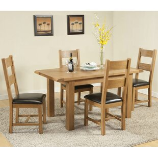 Rothbury Extendable Dining Set with 4 Chairs by Hazelwood Home