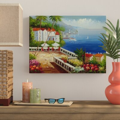 Bay Isle Home 'Mediterranean View' Painting Print on Canvas