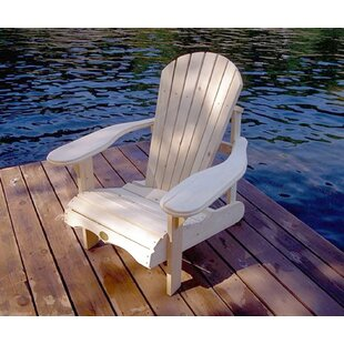 August Grove Raphaelle Solid Wood Adirondack Chair