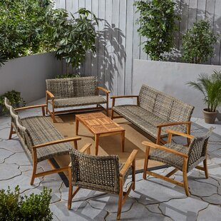 Warford Outdoor 6 Piece Sofa Seating Group