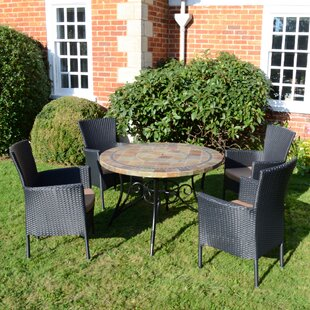 Joyce 4 Seater Dining Set With Cushion By Sol 72 Outdoor