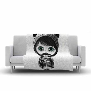Reviews Ivan Joh Cute Mustache Painting Fleece Blanket ByEast Urban Home