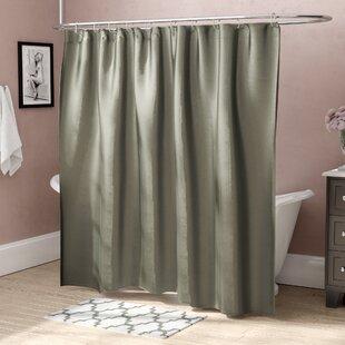 Highgate Faux Silk Shower Curtain ByHouse of Hampton