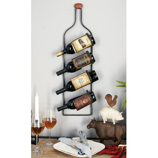 4 Bottle Wall Mounted Wine Rack by Cole &..