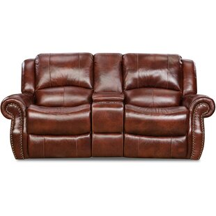 Darby Home Co Additri Leather Reclining Loveseat