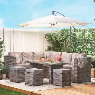 Maddin 9 Seater Dining Set With Cushions Image