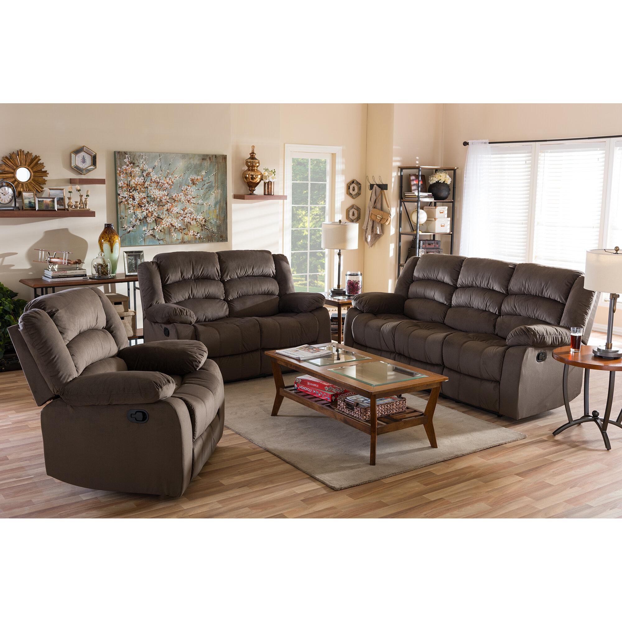 haverville 3 piece reclining living room set
