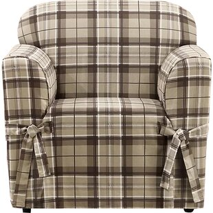Highland Plaid Box Cushion Armchair Slipcover