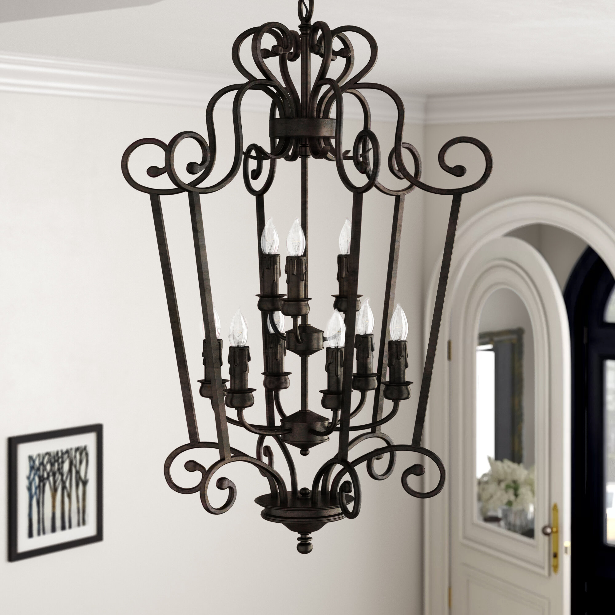 Fleur de lis living elburn caged foyer pendant reviews wayfair