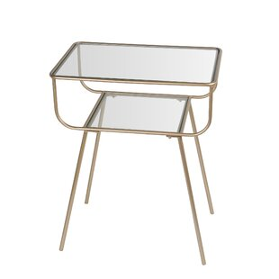 Everly Quinn Garnett Glass End Table