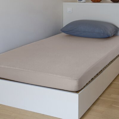 "Breathable And Waterproof Standard Fitted Sheet And Protector Bsensible Color: Beige, Size: 75"" H X 54"" W X 12"" D"