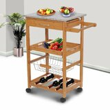 Teillon Kitchen Cart with Granite Top by Winston Porter