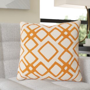 Luka Diamond Linen Throw Pillow