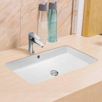 American Standard Studio Vitreous China Rectangular Drop In Bathroom Sink With Overflow Reviews Wayfair