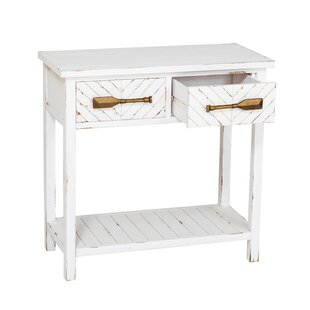 Charlaine White Hall Console Table by Highland Dunes Best #1