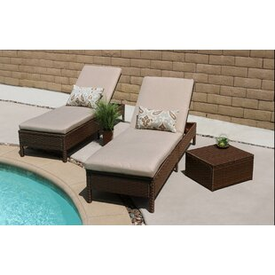 Ivy Bronx Howard 3 Piece Chaise Lounge Set