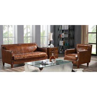 Ransom 2 Piece Leather Sofa Set By Williston Forge