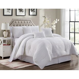 Luce Pleated Comforter Set by House of Hampton Coupon