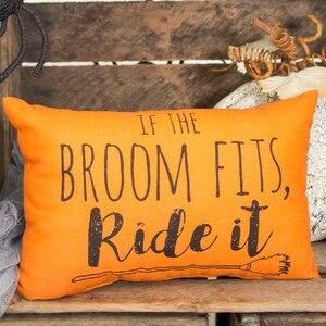 If the Broom Fits Halloween Lumbar Pillow