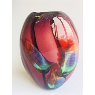 oyalowo multi colored glass table vase - Colored Glass Vases