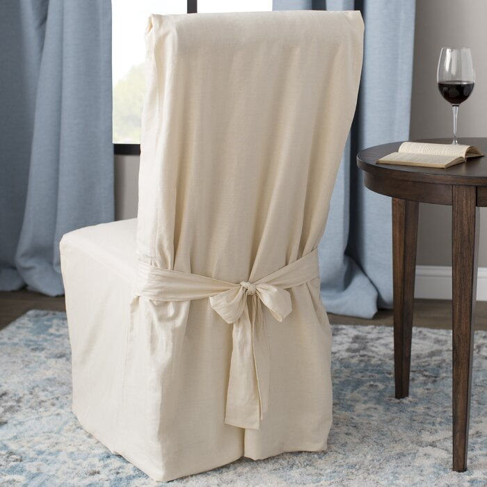 Excellent Cotton Duck Box Cushion Dining Chair Slipcover Cjindustries Chair Design For Home Cjindustriesco