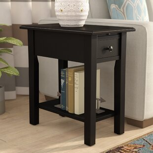 Lundgren End Table With Storage by Andover Mills