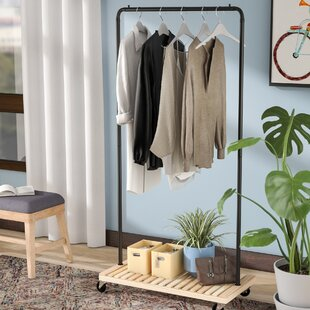 covered clothes rack cotton canvas 3625 clothes racks garment wardrobes youll love