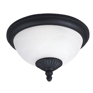 Atisha 2-Light Outdoor Flush Mount