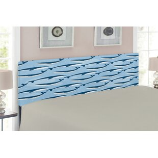 Sea Animals Queen Upholstered Panel Headboard by East Urban Home