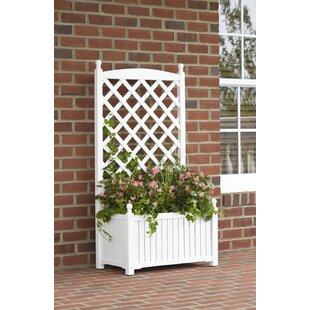 DMC Lexington Wood Planter Box with Trellis