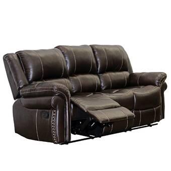 Winston Porter Chapelle 67 Wide Faux Leather Pillow Top Arm Reclining Loveseat Wayfair