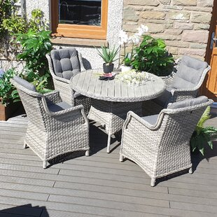 Spaldings 4 Seater Dining Set With Cushions By Sol 72 Outdoor