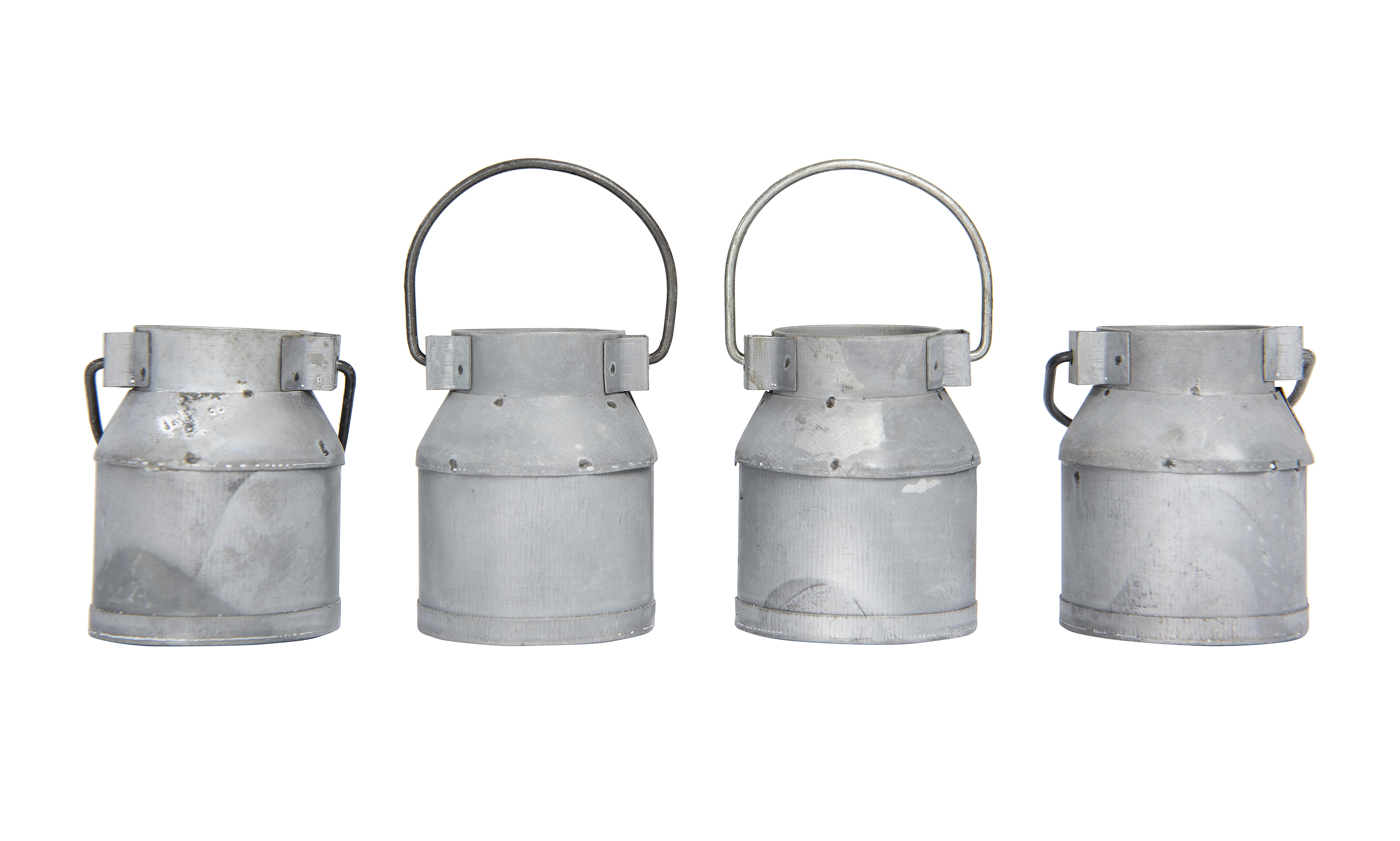 Gracie Oaks Galvanized Metal Milk Can Shaped Napkin Ring Reviews Wayfair