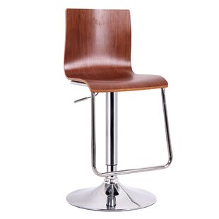 Brydon Adjustable Height Swivel Bar Stool (Set of 2) by George Oliver