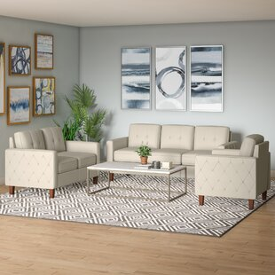 Budget Harrad Tufted Mid-Century 3 Piece Living Room Set by Ivy Bronx Reviews (2019) & Buyer's Guide