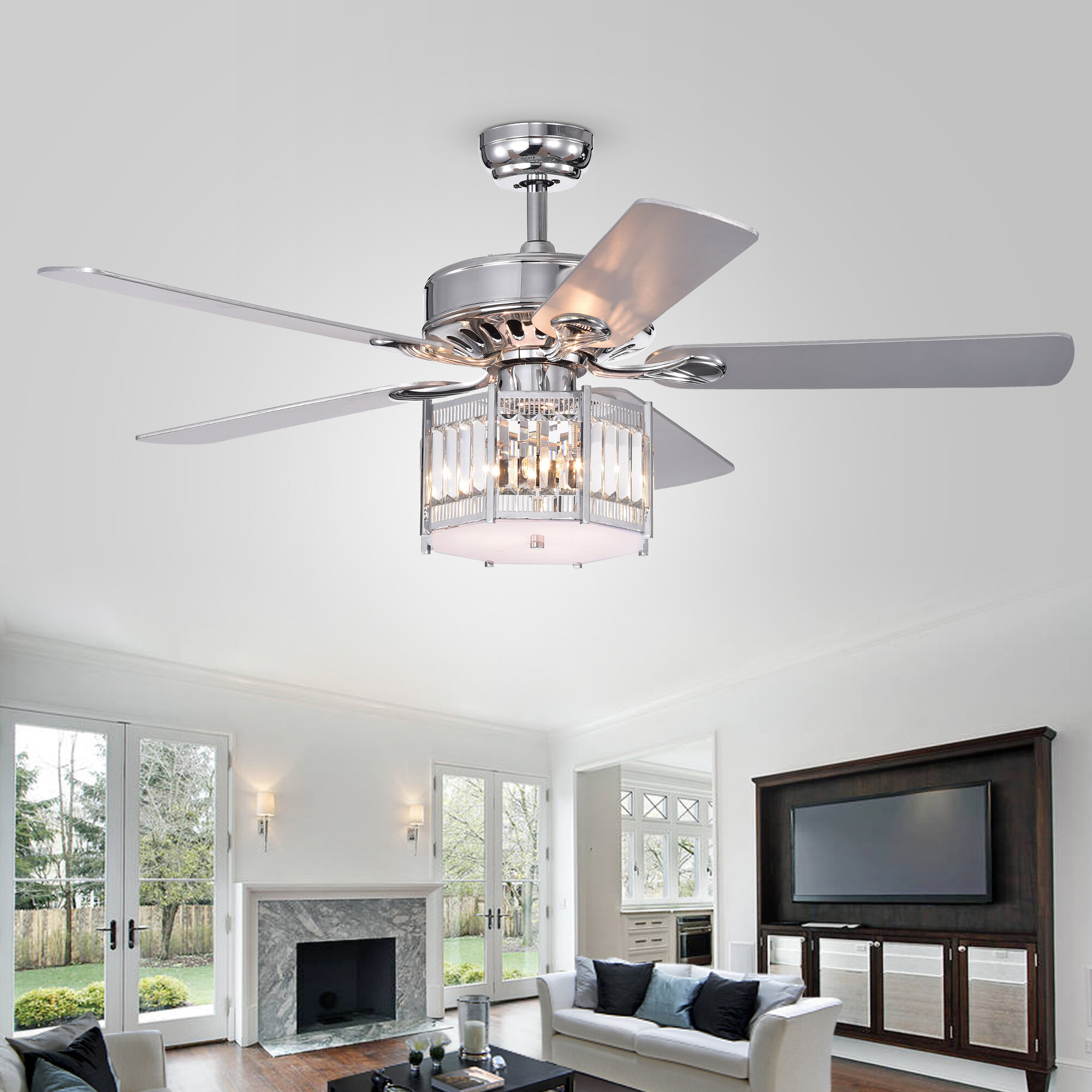 Inch 5 Blade Lighted Ceiling Fan