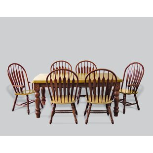 Copernicus 7 Piece Dining Set Loon Peak