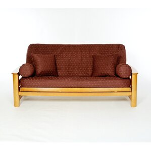 Claret Box Cushion Futon Slipcover by Lifest..