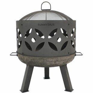 Union Rustic Budde Outdoor Cast Iron Wood..