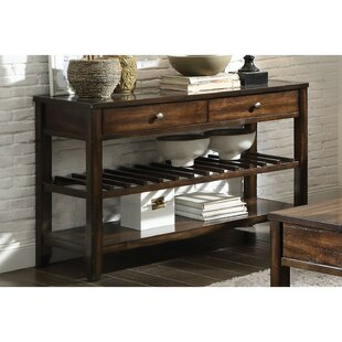Millwood Pines Karlee Top Marble Inlay Console Table