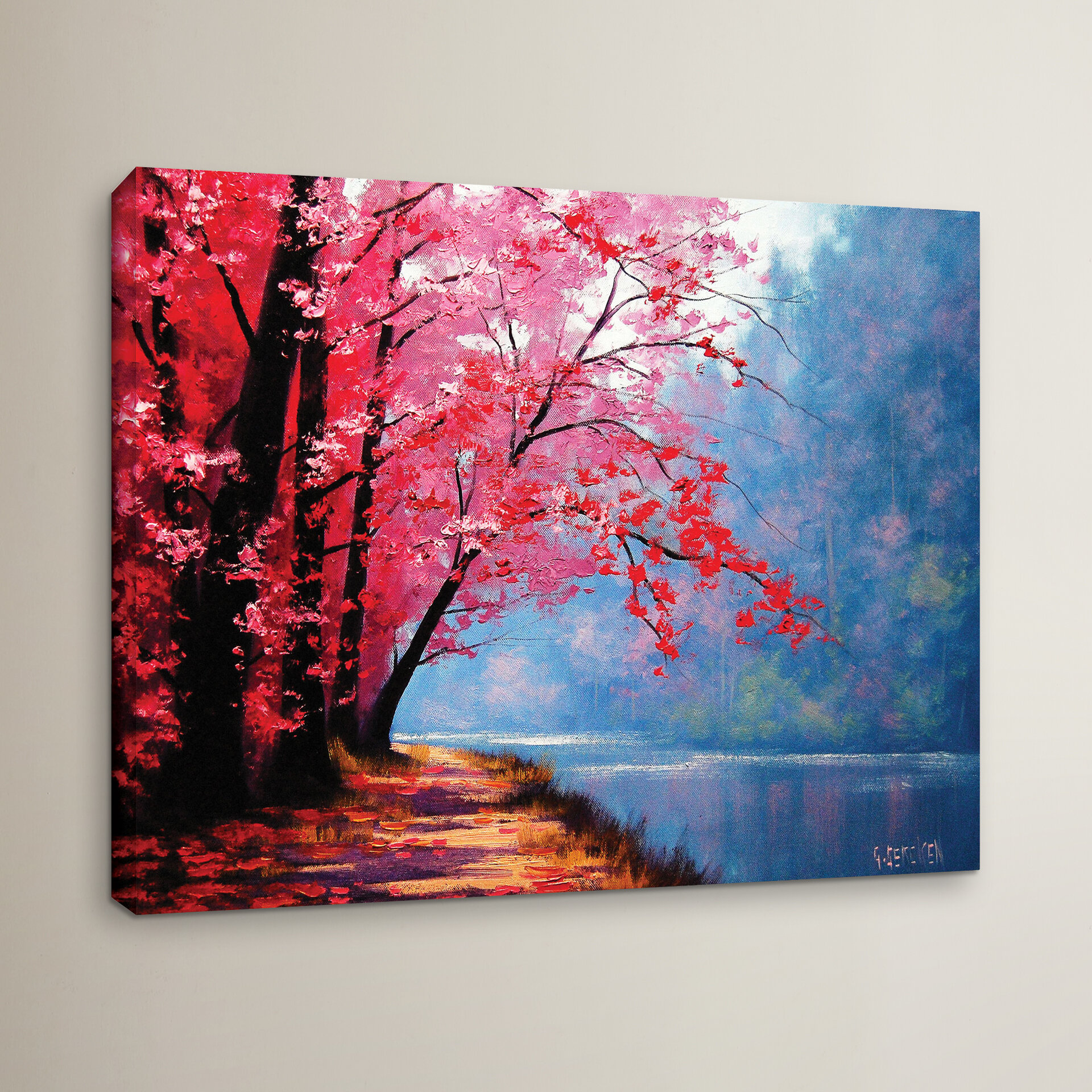 Red Barrel Studio River Bend Painting Print On Wrapped Canvas Wayfair